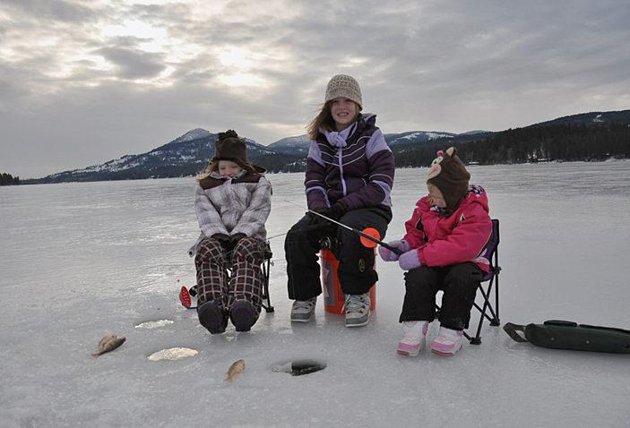 Winter Fishing in Big Bear Lake